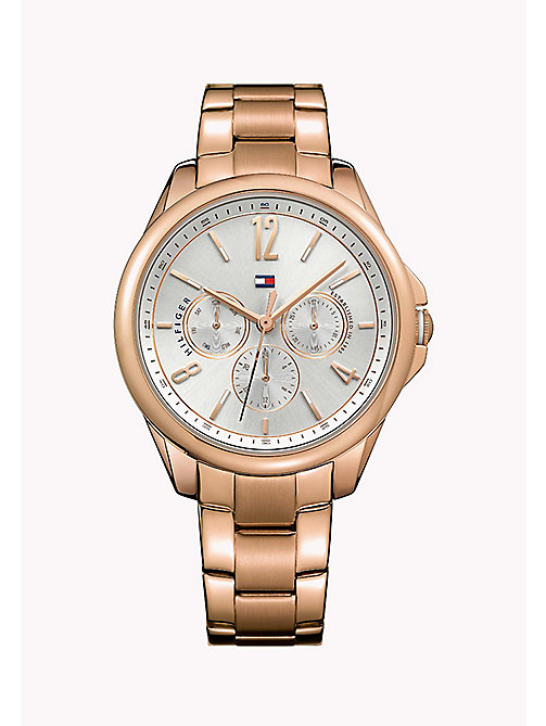 TOMMY HILFIGER Rosé verguld horloge - MULTI - TOMMY HILFIGER De Office Edit - main image