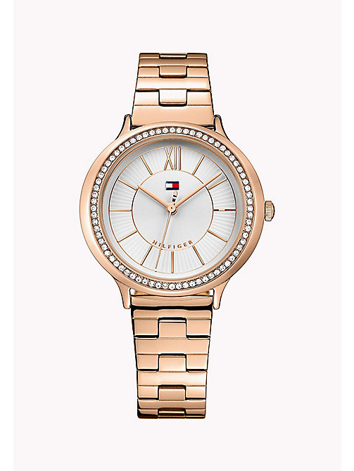 TOMMY HILFIGER Rose Gold-Plated Stainless Steel Watch - MULTI - TOMMY HILFIGER Watches - main image
