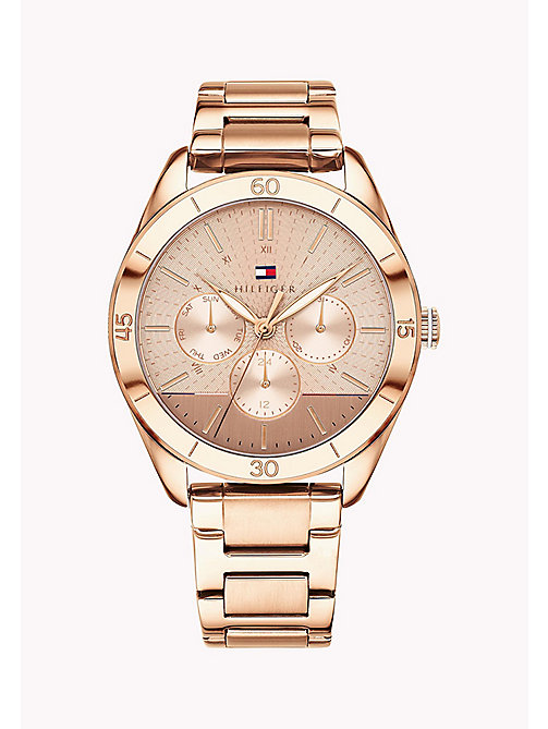 TOMMY HILFIGER Rose Gold-Plated Concentric Pattern Watch - ROSE GOLD - TOMMY HILFIGER Watches - main image