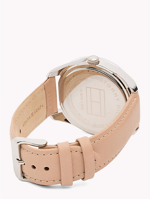 TOMMY HILFIGER Tan Leather and Stainless Steel Watch - BROWN - TOMMY HILFIGER Watches - detail image 1