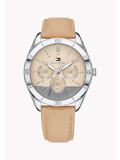 TOMMY HILFIGER Tan Leather and Stainless Steel Watch - BROWN - TOMMY HILFIGER Watches - main image