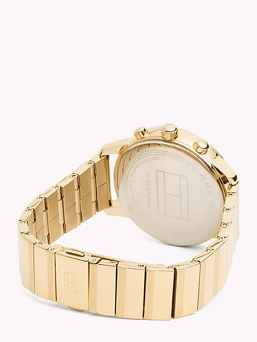 TOMMY HILFIGER Gold-Plated Link Bracelet Watch - YELLOW GOLD - TOMMY HILFIGER Watches - detail image 1