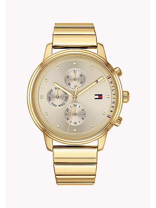 TOMMY HILFIGER Gold-Plated Link Bracelet Watch - YELLOW GOLD - TOMMY HILFIGER Watches - main image
