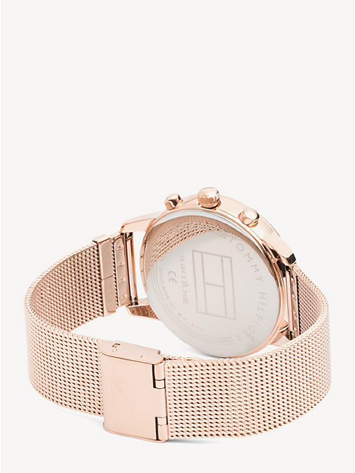 TOMMY HILFIGER Rose Gold-Plated Shark Mesh Watch - ROSE GOLD - TOMMY HILFIGER Watches - detail image 1