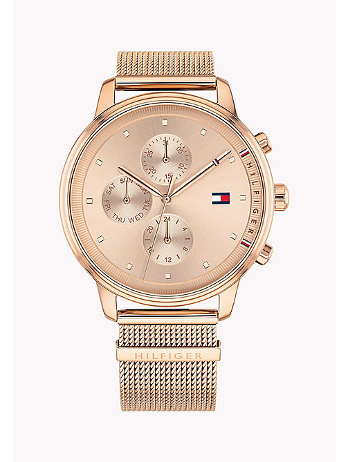 TOMMY HILFIGER Rose Gold-Plated Shark Mesh Watch - ROSE GOLD - TOMMY HILFIGER Watches - main image