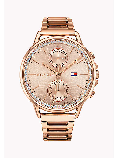 TOMMY HILFIGER Rose Gold-Plated Gem Watch - ROSE GOLD - TOMMY HILFIGER Watches - main image