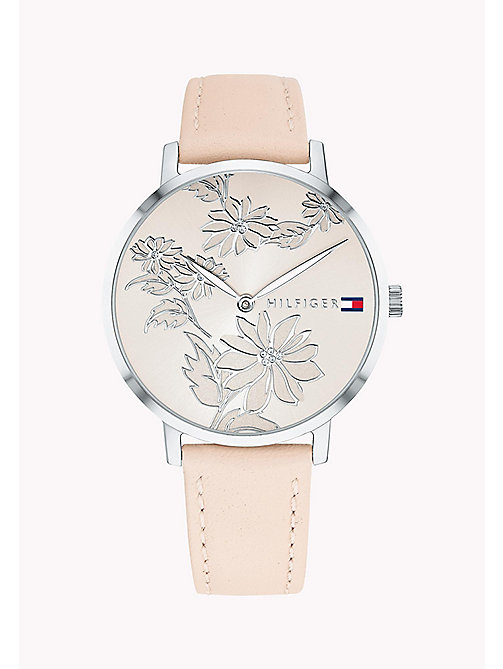 TOMMY HILFIGER Stainless Steel Gem Flower Watch - PINK - TOMMY HILFIGER Watches - main image