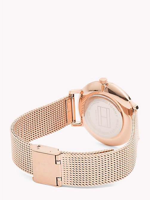 TOMMY HILFIGER Floral Engraved Watch - ROSE GOLD - TOMMY HILFIGER Watches & Jewelry - detail image 1