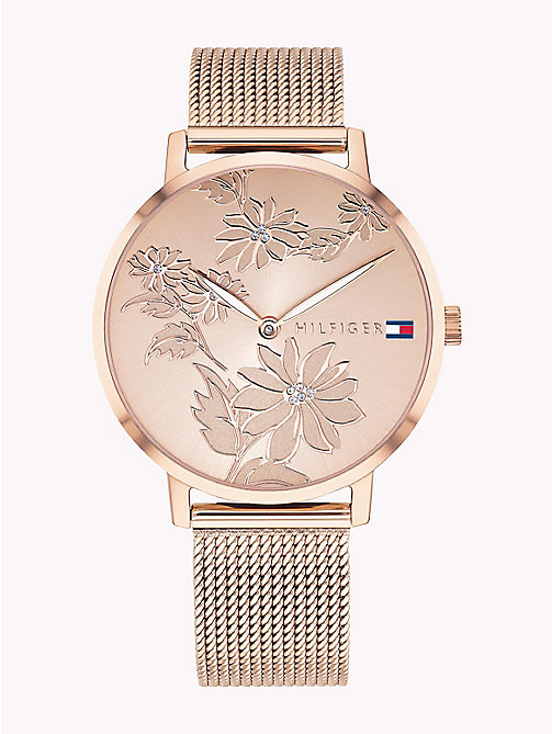 TOMMY HILFIGER Floral Engraved Watch - ROSE GOLD - TOMMY HILFIGER Watches & Jewelry - main image