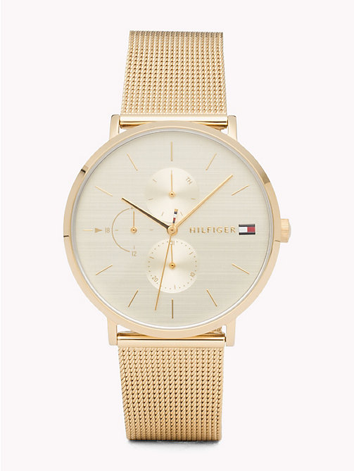 TOMMY HILFIGER Jenna Yellow Gold Watch - YELLOW GOLD - TOMMY HILFIGER Montres - image principale