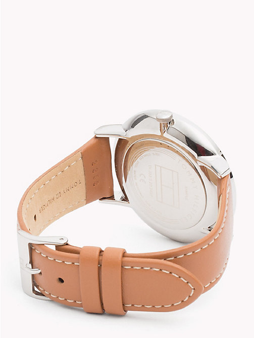 TOMMY HILFIGER Gold Detailing Brown Strap Watch - BROWN - TOMMY HILFIGER Watches & Jewelry - detail image 1