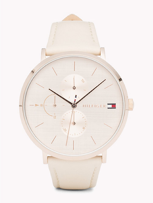 TOMMY HILFIGER Jenna Nude Leather Watch - NUDE LEATHER - TOMMY HILFIGER Montres - image principale