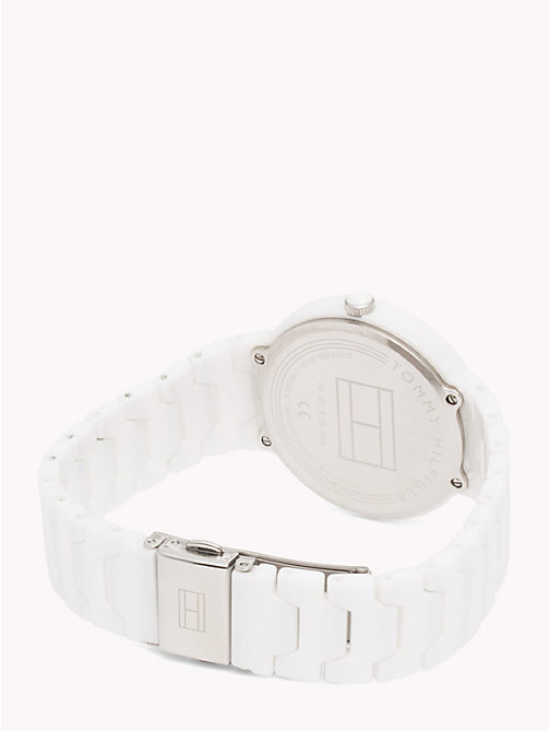 TOMMY HILFIGER Avery White Ceramic Watch - WHITE CERAMIC - TOMMY HILFIGER Watches - detail image 1