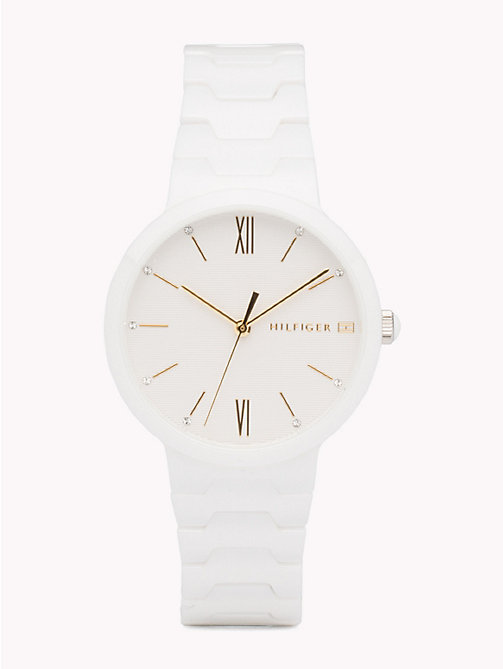 TOMMY HILFIGER White Ceramic Watch - WHITE CERAMIC - TOMMY HILFIGER Watches & Jewelry - main image