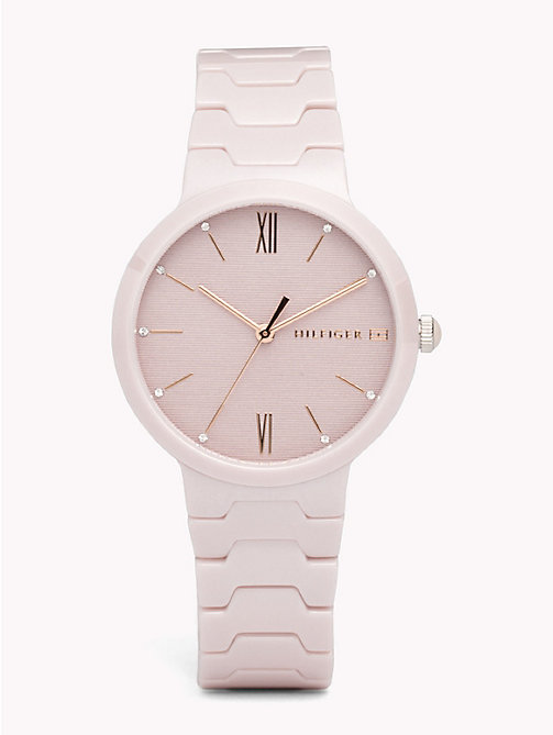 TOMMY HILFIGER Avery Blush Ceramic Watch - BLUSH CERAMIC - TOMMY HILFIGER Watches & Jewelry - main image