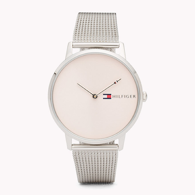 grey stainless steel watch for women tommy hilfiger