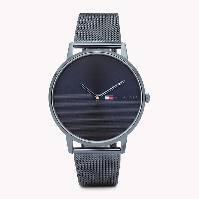 blue ionic steel watch for women tommy hilfiger