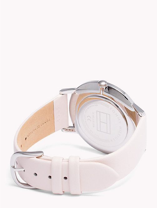TOMMY HILFIGER Alex Pink Leather Watch - PINK LEATHER - TOMMY HILFIGER Watches & Jewelry - detail image 1