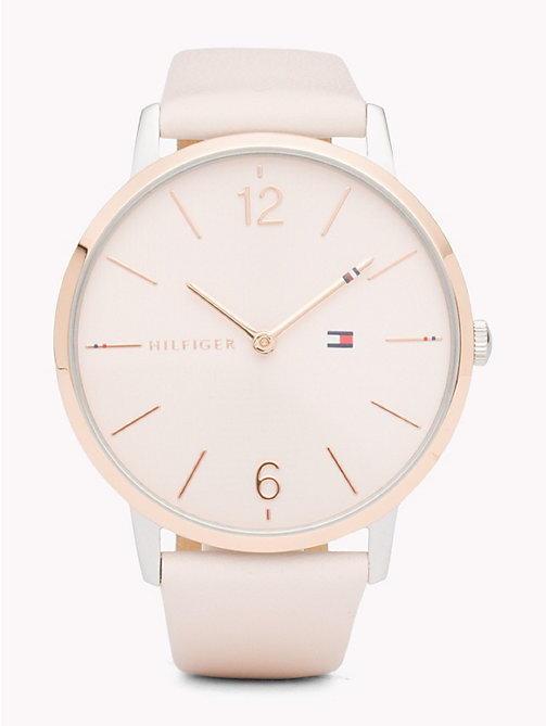 TOMMY HILFIGER Alex Pink Leather Watch - PINK LEATHER - TOMMY HILFIGER Watches & Jewelry - main image