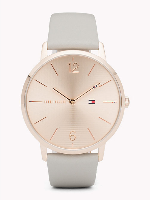 TOMMY HILFIGER Alex Grey Leather Watch - GREY LEATHER - TOMMY HILFIGER Watches & Jewelry - main image