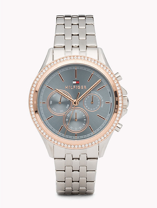 TOMMY HILFIGER Ari Stainless Steel Crystal Watch - STAINLESS STEEL - TOMMY HILFIGER Watches & Jewelry - main image