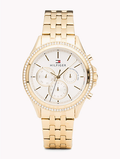 TOMMY HILFIGER Ari Gold Plated Watch - IONIC THIN GOLD PLATED 2 STEEL - TOMMY HILFIGER Watches & Jewelry - main image