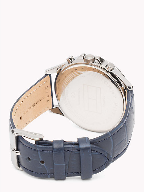 TOMMY HILFIGER Ari Blue Leather Watch - BLUE LEATHER - TOMMY HILFIGER Watches & Jewelry - detail image 1