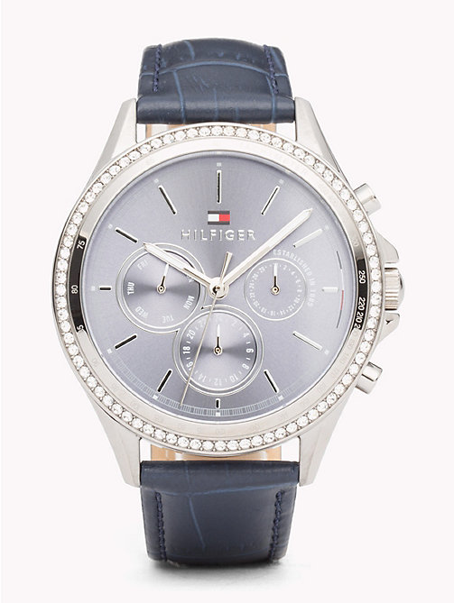 TOMMY HILFIGER Ari Blue Leather Watch - BLUE LEATHER - TOMMY HILFIGER Watches & Jewelry - main image