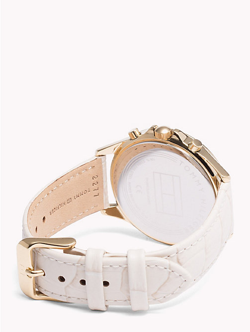 TOMMY HILFIGER Ari Beige Leather Crystal Watch - BEIGE LEATHER - TOMMY HILFIGER Watches & Jewelry - detail image 1