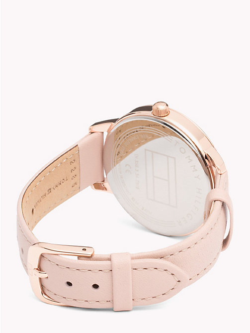 TOMMY HILFIGER August Rose Leather Watch - PINK LEATHER - TOMMY HILFIGER Watches & Jewelry - detail image 1