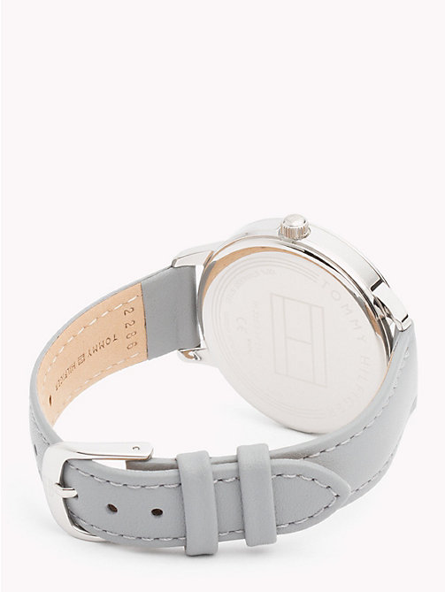 TOMMY HILFIGER August Grey Leather Watch - GREY LEATHER - TOMMY HILFIGER Watches & Jewelry - detail image 1