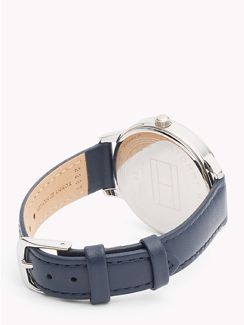 TOMMY HILFIGER August Blue Leather Watch - BLUE LEATHER - TOMMY HILFIGER Watches & Jewelry - detail image 1