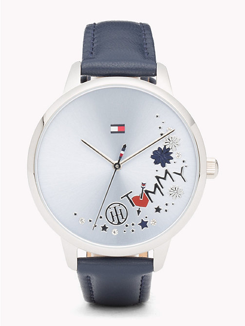 TOMMY HILFIGER August Blue Leather Watch - BLUE LEATHER - TOMMY HILFIGER Watches & Jewelry - main image