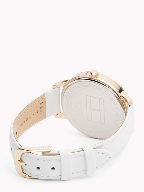 TOMMY HILFIGER August White Leather Watch - WHITE LEATHER - TOMMY HILFIGER Watches & Jewelry - detail image 1