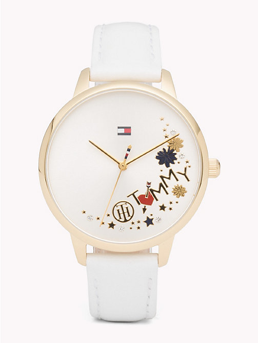 TOMMY HILFIGER August White Leather Watch - WHITE LEATHER - TOMMY HILFIGER Watches & Jewelry - main image