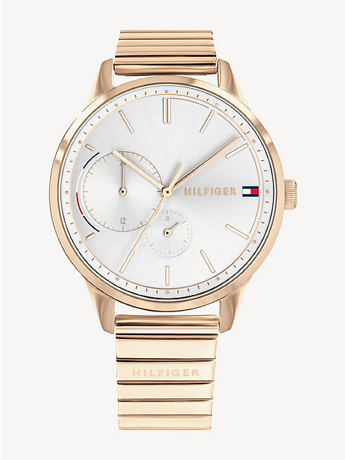 770d88f18 pink carnation gold steel watch for women tommy hilfiger