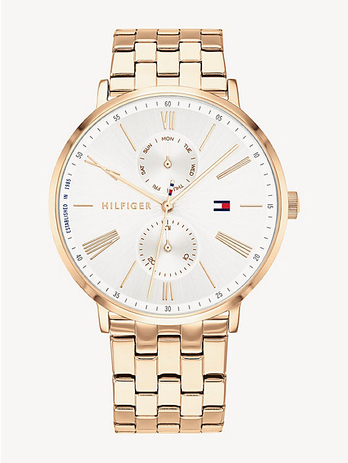 9ce8f52c TOMMY HILFIGERCarnation Gold-Plated Stainless Steel Watch