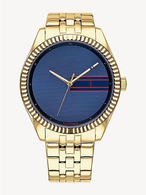 9eabc37b868d88 gold zegarek ze stali nierdzewnej w kolorze żółtego złota dla kobiety -  tommy hilfiger