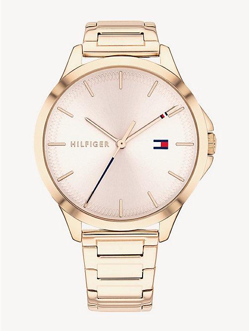 0bdc929c813 TOMMY HILFIGERCarnation Gold-Plate Link Bracelet Watch