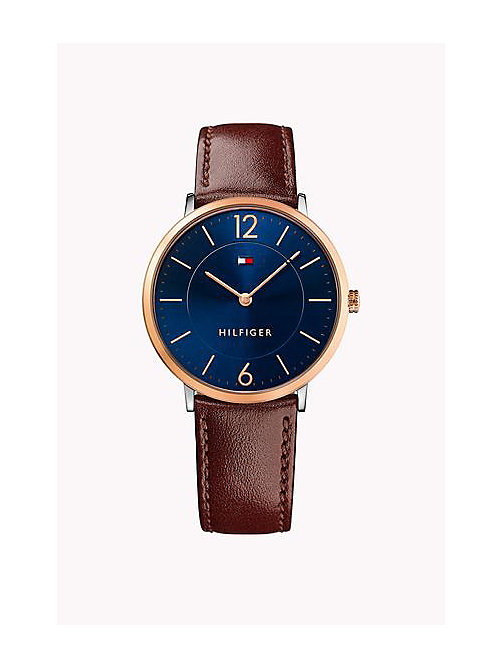 TOMMY HILFIGER Leather Strap Watch - MULTI - TOMMY HILFIGER Watches - main image