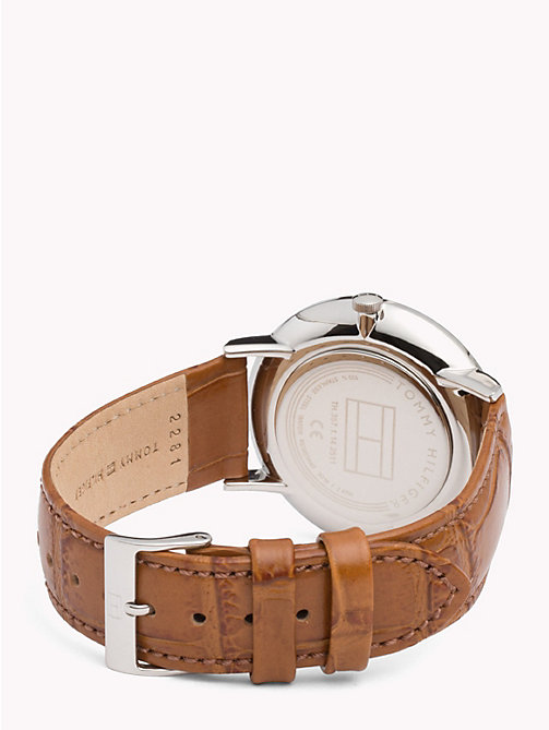 TOMMY HILFIGER Montre Dane cuir marron - BROWN LEATHER - TOMMY HILFIGER Montres & Bijoux - image détaillée 1