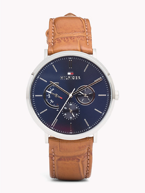 TOMMY HILFIGER Dane Brown Leather Watch - BROWN LEATHER - TOMMY HILFIGER Watches & Jewelry - main image