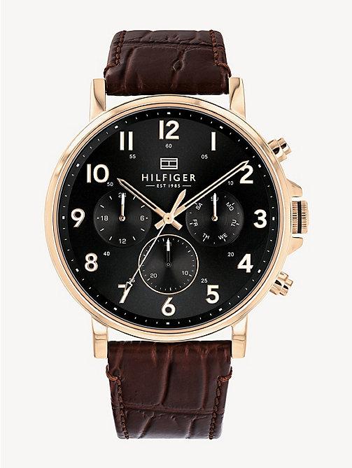 a4a079b57a9a24 TOMMY HILFIGERRosé verguld horloge met leren band
