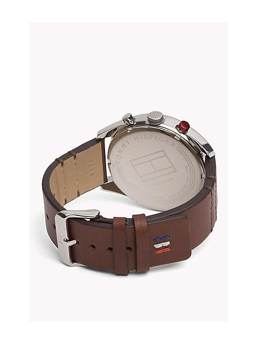 TOMMY HILFIGER Leather Strap Watch - MULTI - TOMMY HILFIGER Watches - detail image 1