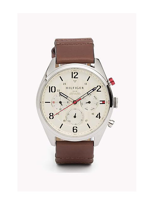 Leather Strap Watch - MULTI - TOMMY HILFIGER Borse & Accessori - immagine principale