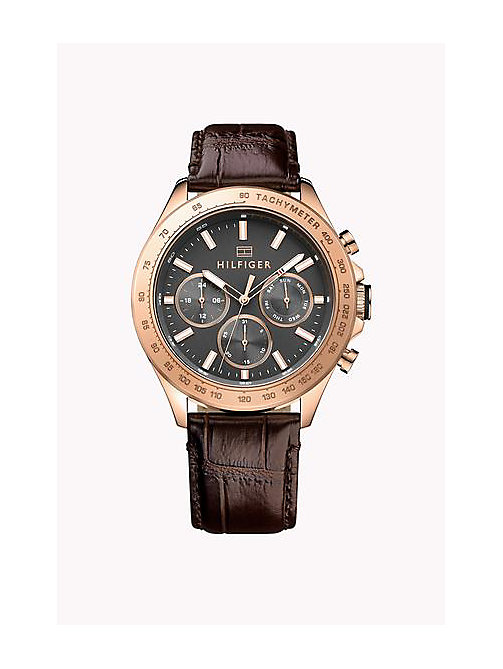 TOMMY HILFIGER HUDSON IONIC ROSE GOLD PLATED STEEL - MULTI - TOMMY HILFIGER Uhren - main image