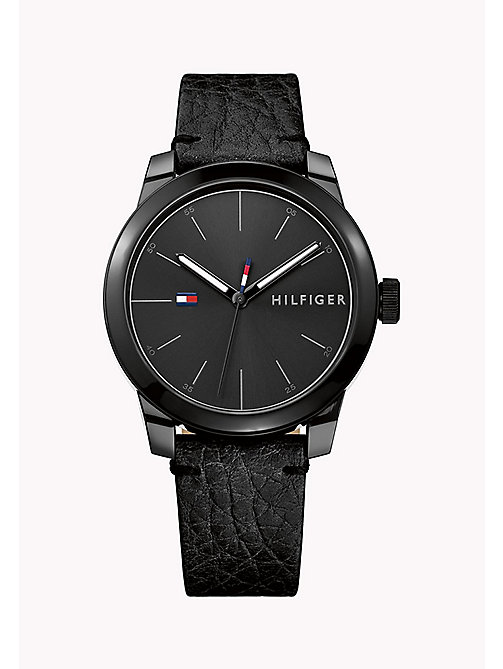 TOMMY HILFIGER Stainless Steel Leather Strap Watch - MULTI - TOMMY HILFIGER Watches - main image