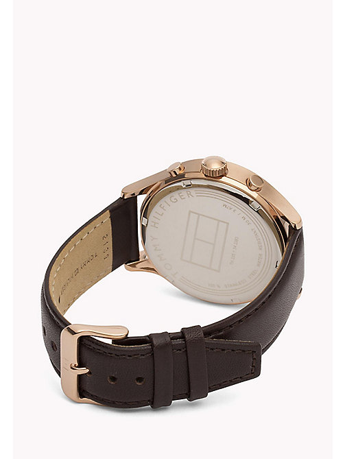 TOMMY HILFIGER Stainless Steel Leather Strap Watch - MULTI - TOMMY HILFIGER Watches - detail image 1
