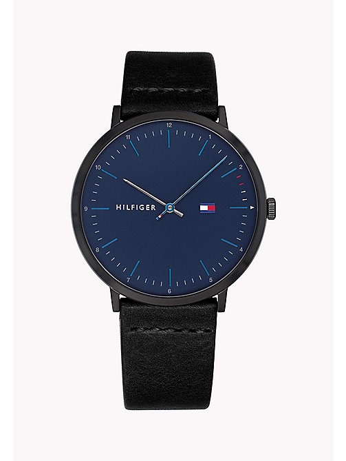 TOMMY HILFIGER Black and Blue Analogue Watch - BLACK - TOMMY HILFIGER Watches & Jewelry - main image