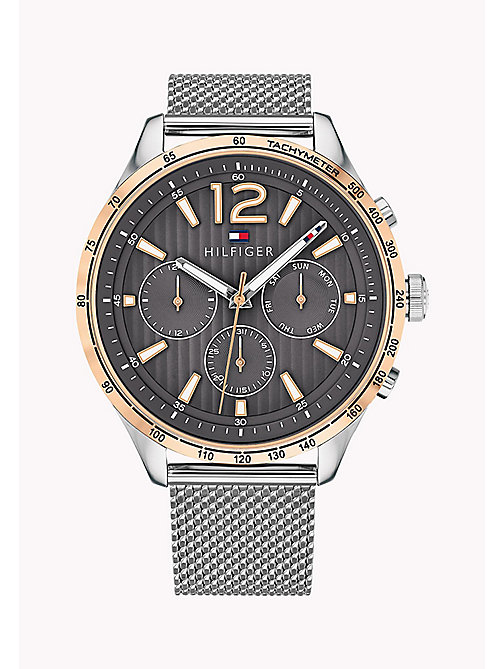 TOMMY HILFIGER Mesh Bracelet Tachymeter Watch - STAINLESS STEEL - TOMMY HILFIGER Watches - main image